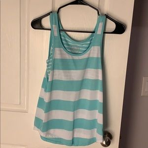 mint green and white striped tank